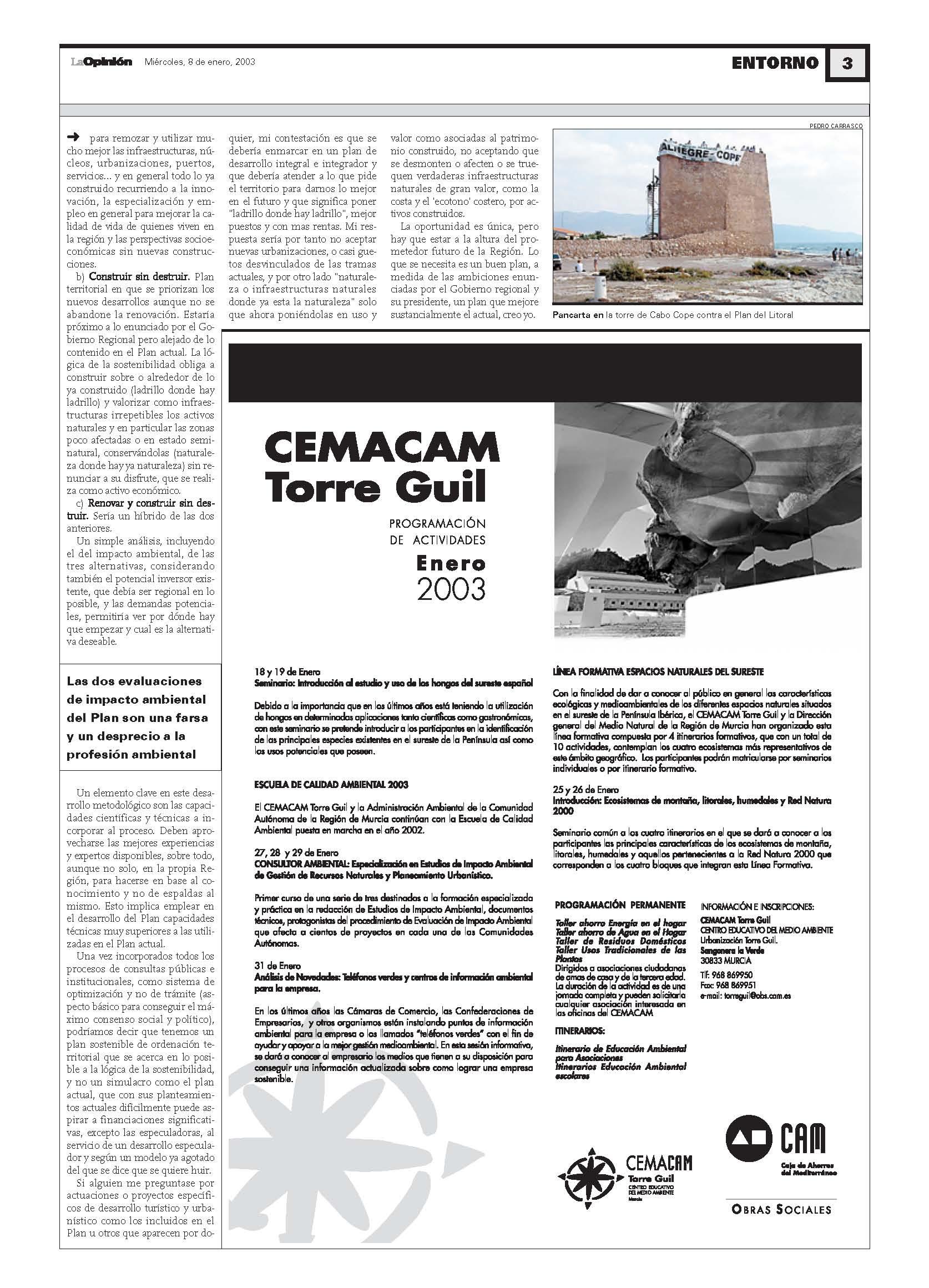 2003 01 07-PLAN LITORAL-LA OPINION 2