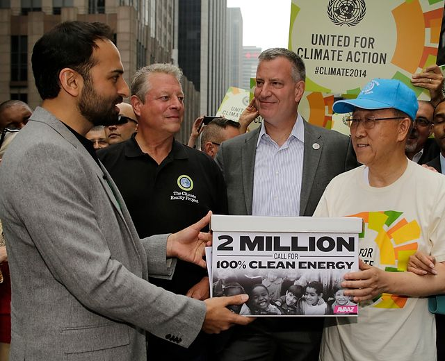 firmas - La mayor movilización contra el cambio climático de la historia