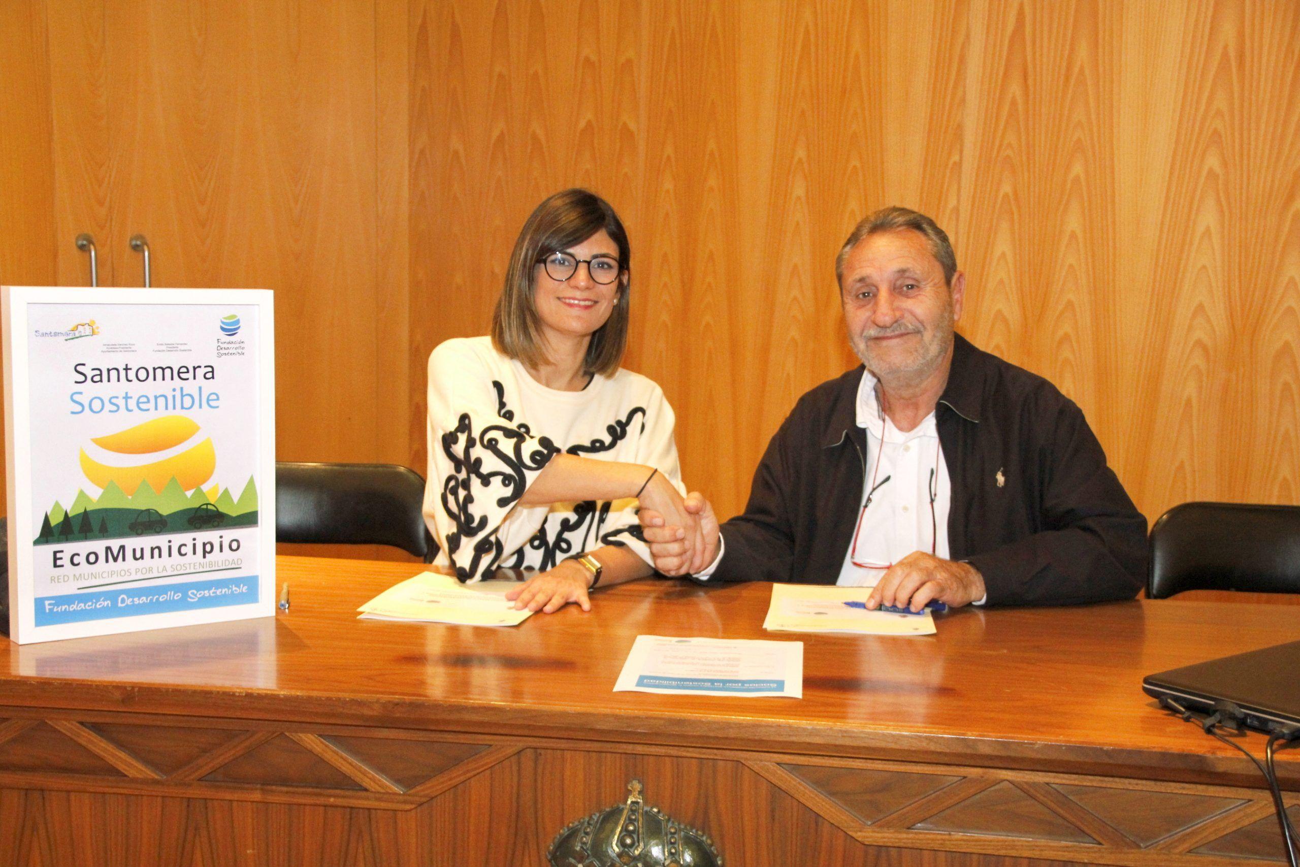 santomera1 - El Ayuntamiento de Santomera y la Fundación Desarrollo Sostenible firman un convenio para impulsar el desarrollo sostenible y reducir las emisiones de CO2 en Santomera