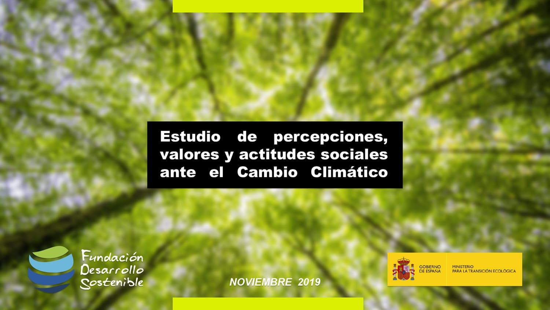 Portada Estudio - Estudio Cambio Climático 2019