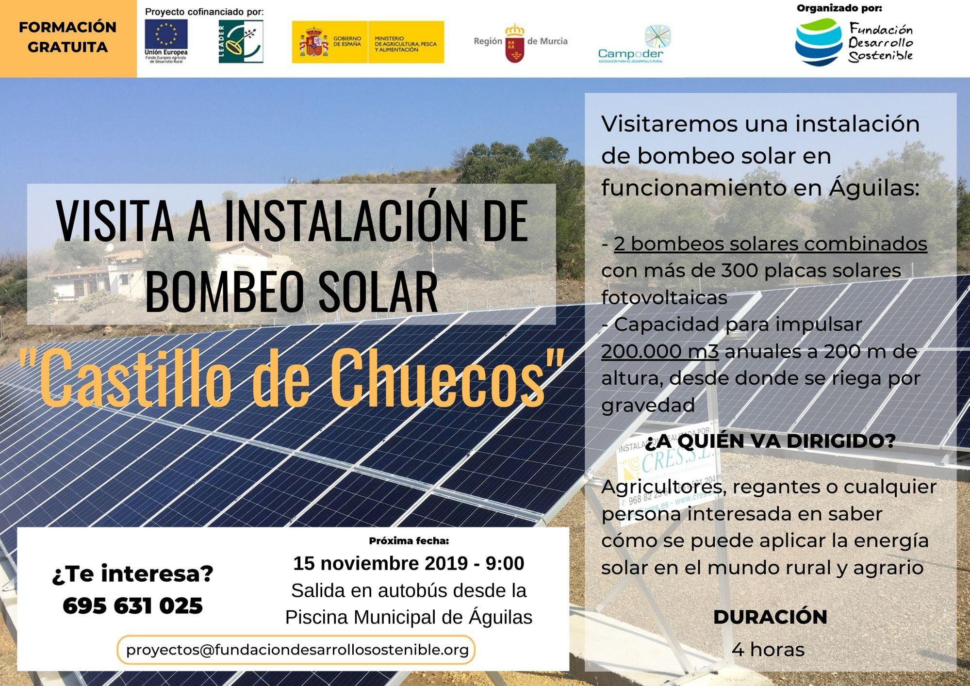 15 noviembre Visita Castillo Chuecos - Energía Solar en el Mundo Rural y Agrario